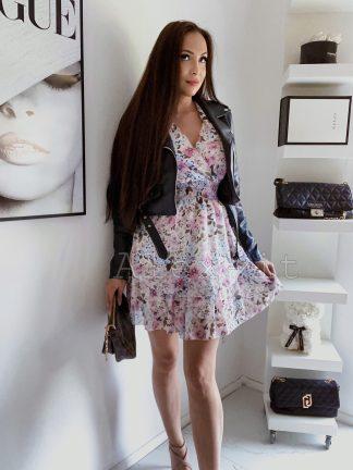 Kvetinové Šaty FLORA 2 rafinovane strihané, s krásnym letným vzorom