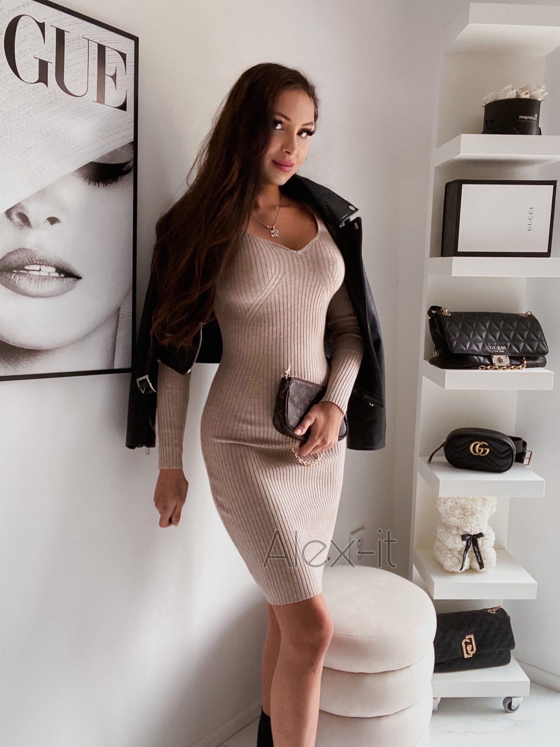 Pletené šaty LIMA 3 dokonalé na jeseň, hrejivé a príjemné na dotyk