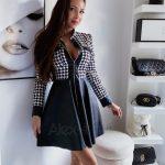 Čierno-biele šaty PEPITO sú dokonalou voľbou na jeseň