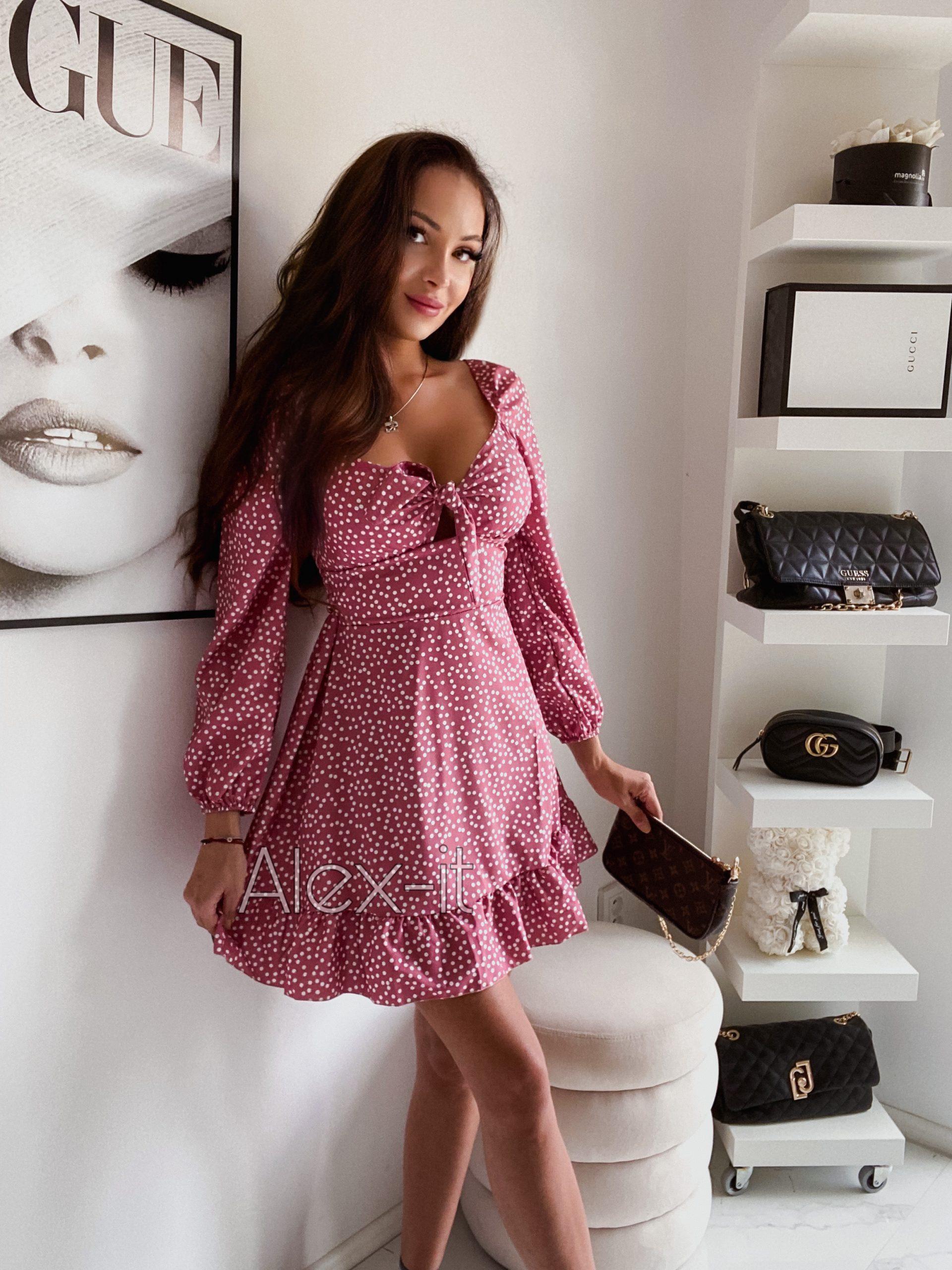 Ružové šaty DOLLY PINK v ktorých budete rozhodne neprehliadnuteľné