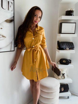 Košeľové šaty SIMPLE YELLOW nádherné a jednoduché