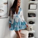 Krátke šaty/tunika BABY BLUE v nádhernej nebeskej modrej