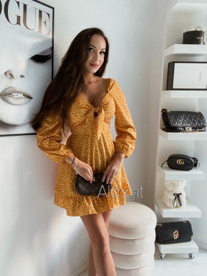 Žlté šaty DOLLY YELLOW v ktorých budete rozhodne neprehliadnuteľné